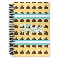 Poop Emoji Spiral Notebook (Personalized)