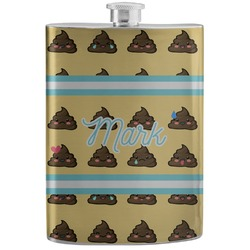 Poop Emoji Stainless Steel Flask (Personalized)