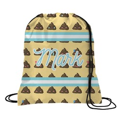 Poop Emoji Drawstring Backpack (Personalized)