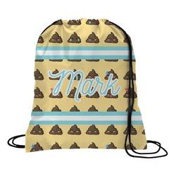 Poop Emoji Drawstring Backpack (Personalized)
