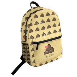 Poop Emoji Student Backpack (Personalized)