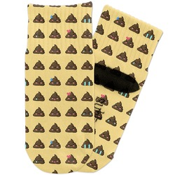 Poop Emoji Toddler Ankle Socks (Personalized)