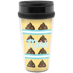 Poop Emoji Travel Mug (Personalized)