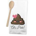 Poop Emoji Waffle Weave Kitchen Towel (Personalized)