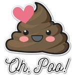 Poop Emoji Graphic Decal - Custom Sized (Personalized)