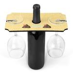 Poop Emoji Wine Bottle & Glass Holder (Personalized)