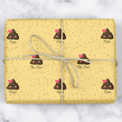 Poop Emoji Wrapping Paper (Personalized)