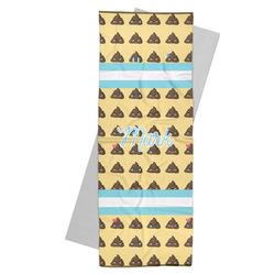 Poop Emoji Yoga Mat Towel (Personalized)