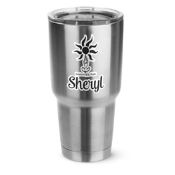 Sundance Yoga Studio 30 oz Silver Stainless Steel Tumbler w/Full Color Graphics (Personalized)