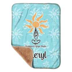 "Sundance Yoga Studio Sherpa Baby Blanket 30"" x 40"" (Personalized)"