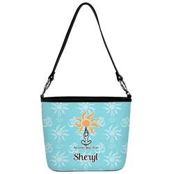 Sundance Yoga Studio Bucket Bag w/ Genuine Leather Trim (Personalized)