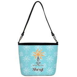 Sundance Yoga Studio Bucket Bag w/ Genuine Leather Trim (Personalized)