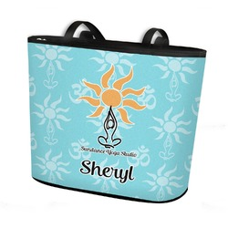 Sundance Yoga Studio Bucket Tote w/ Genuine Leather Trim (Personalized)