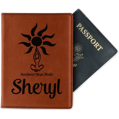 Sundance Yoga Studio Leatherette Passport Holder (Personalized)