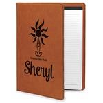 Sundance Yoga Studio Leatherette Portfolio with Notepad (Personalized)