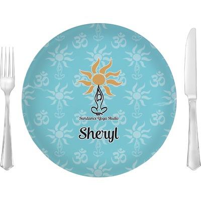 "Sundance Yoga Studio 10"" Glass Lunch / Dinner Plates - Single or Set (Personalized)"