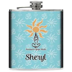 Sundance Yoga Studio Genuine Leather Flask (Personalized)