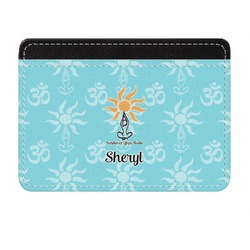 Sundance Yoga Studio Genuine Leather Front Pocket Wallet (Personalized)