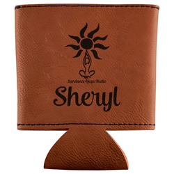 Sundance Yoga Studio Leatherette Can Sleeve (Personalized)
