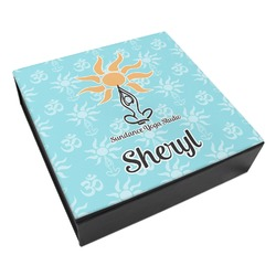 Sundance Yoga Studio Leatherette Keepsake Box - 3 Sizes (Personalized)
