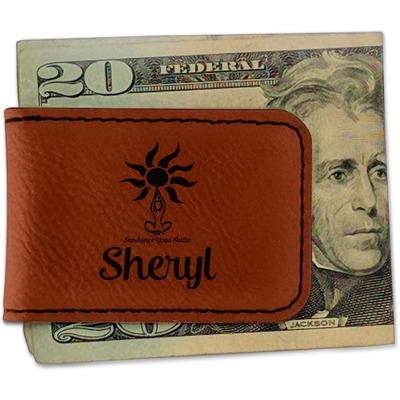 Sundance Yoga Studio Leatherette Magnetic Money Clip (Personalized)