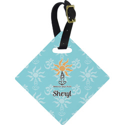 Sundance Yoga Studio Diamond Luggage Tag (Personalized)