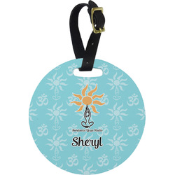 Sundance Yoga Studio Round Luggage Tag (Personalized)