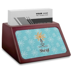 Sundance Yoga Studio Red Mahogany Business Card Holder (Personalized)