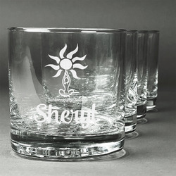 Sundance Yoga Studio Whiskey Glasses (Set of 4) (Personalized)