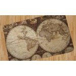 Vintage World Map Area Rug