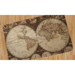 Vintage World Map Area Rug