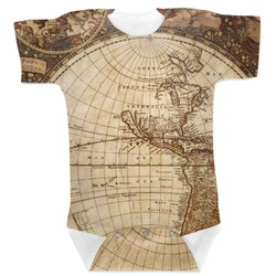 Vintage World Map Baby Bodysuit
