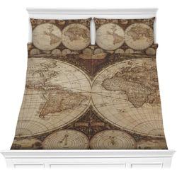 Vintage World Map Comforter Set