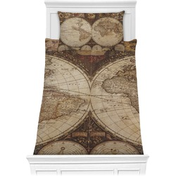 Vintage World Map Comforter Set - Twin XL