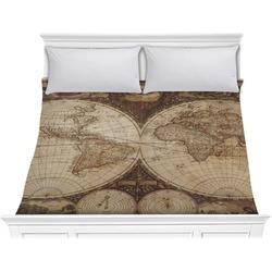 Vintage World Map Comforter - King