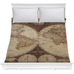 Vintage World Map Comforter