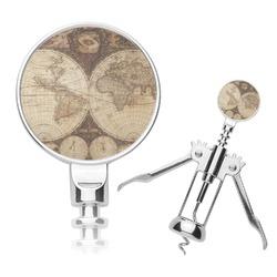 Vintage World Map Corkscrew