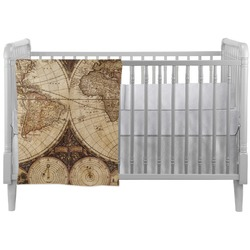 Vintage World Map Crib Comforter / Quilt