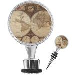 Vintage World Map Wine Bottle Stopper
