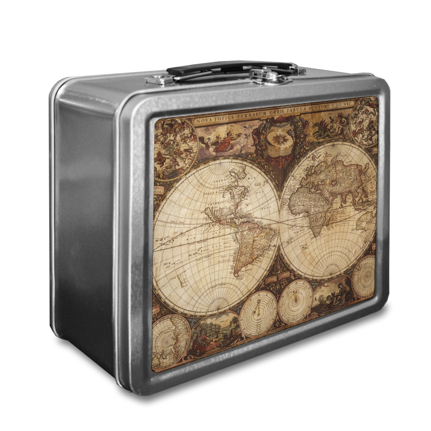 Vintage World Map Lunch Box YouCustomizeIt - Antique map box