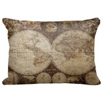 "Vintage World Map Decorative Baby Pillowcase - 16""x12"""