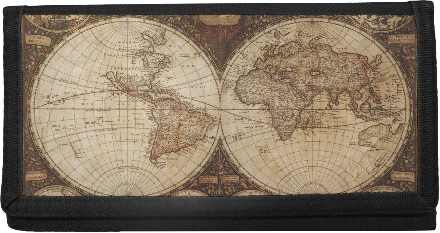 Vintage world map canvas checkbook cover youcustomizeit vintage world map canvas checkbook cover gumiabroncs Choice Image