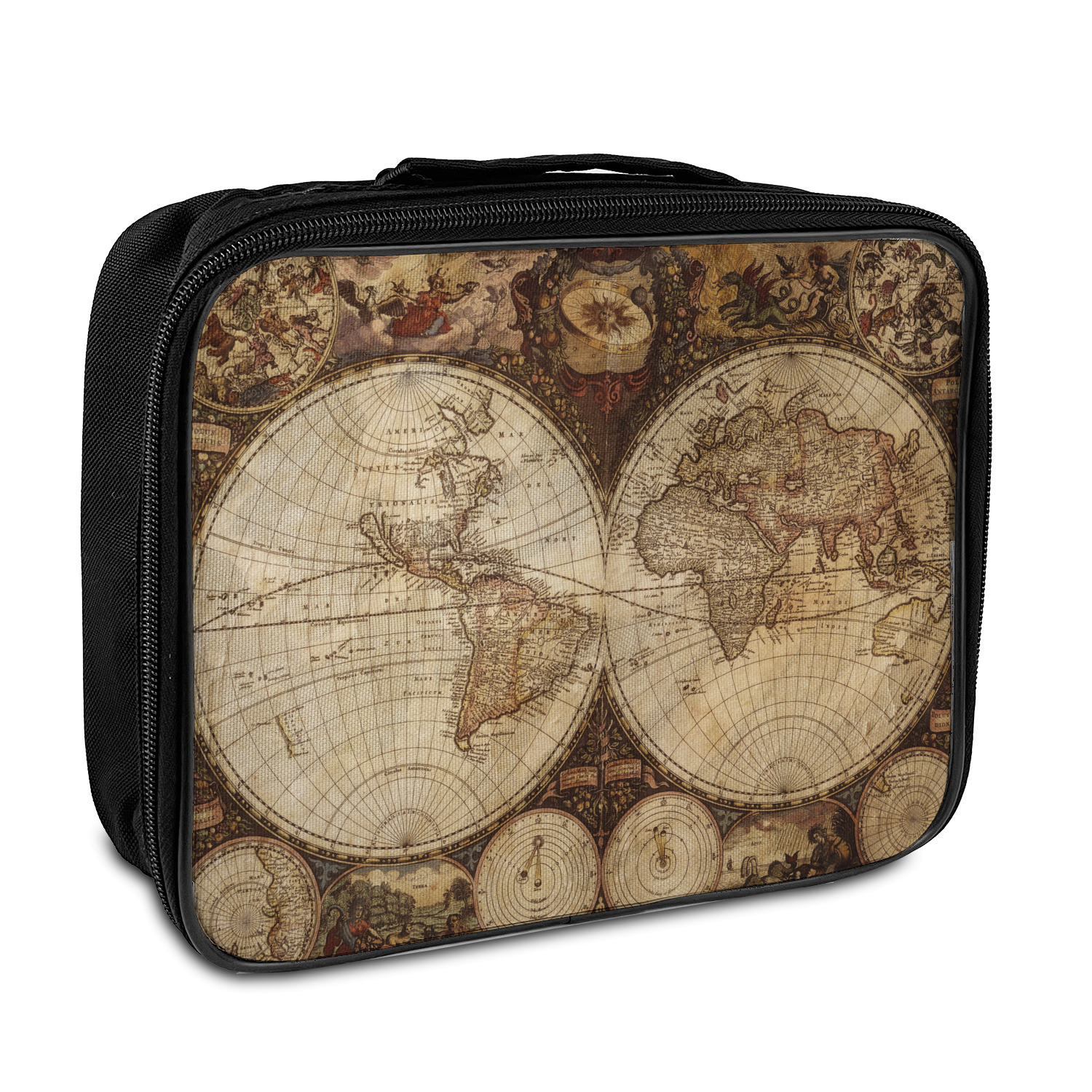 Vintage World Map Insulated Lunch Bag on wwii map bag, travel bag, german map bag, korean map bag, military map bag, poster bag, russian map bag, italian map bag, vintage compass, world map bag, leather map bag,