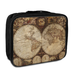 Vintage World Map Insulated Lunch Bag