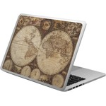 Vintage World Map Laptop Skin - Custom Sized