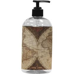 Vintage World Map Plastic Soap / Lotion Dispenser