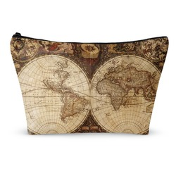 Vintage World Map Makeup Bags