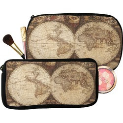 Vintage World Map Makeup / Cosmetic Bag
