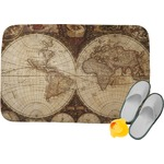 Vintage World Map Memory Foam Bath Mat