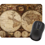 Vintage World Map Mouse Pads